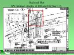 railroad plat 8n intersect angles of rr and highway cl