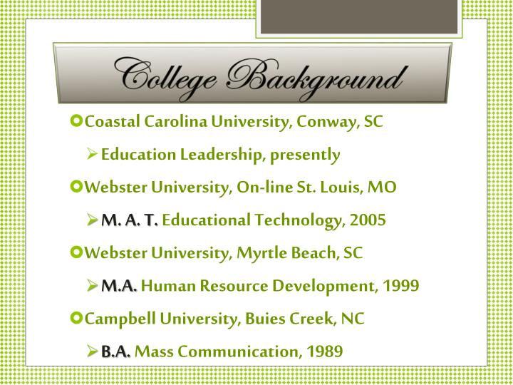 College Background