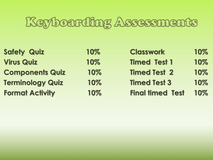 Keyboarding Assessments