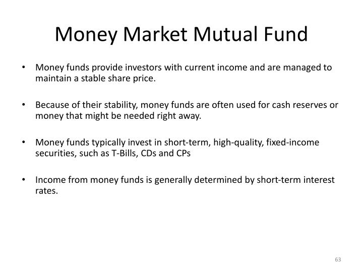 Money Market Mutual Fund