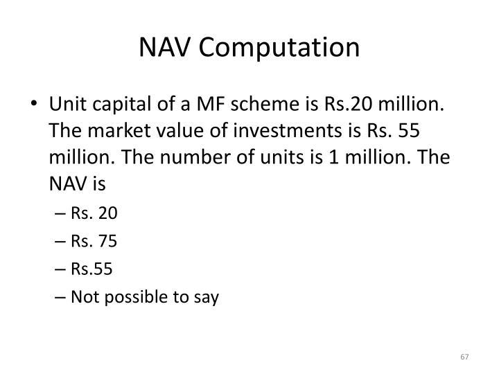 NAV Computation
