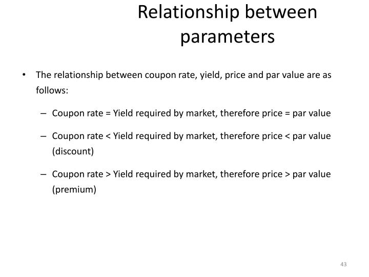 Relationship between parameters