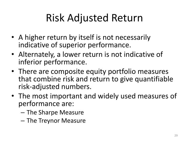 Risk Adjusted Return