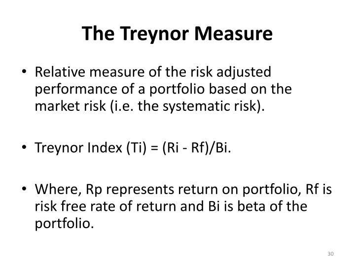The Treynor Measure