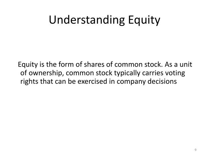 Understanding Equity