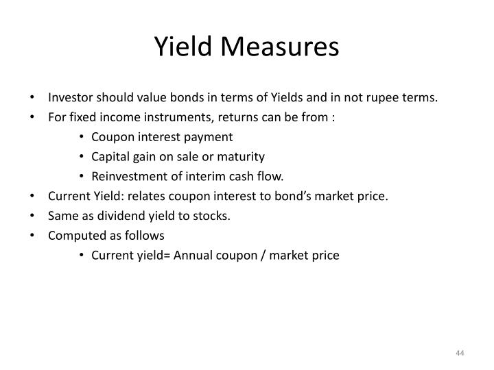 Yield Measures