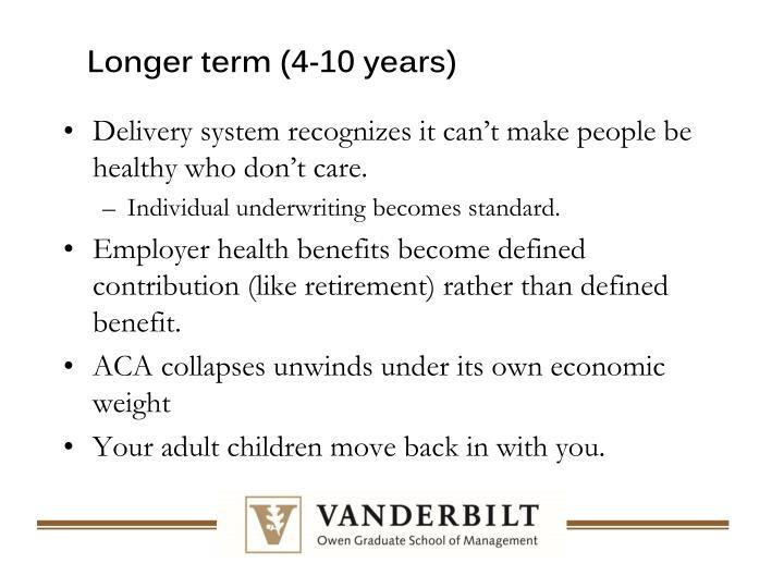 Longer term (4-10 years)