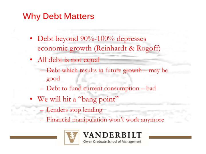 Why Debt Matters