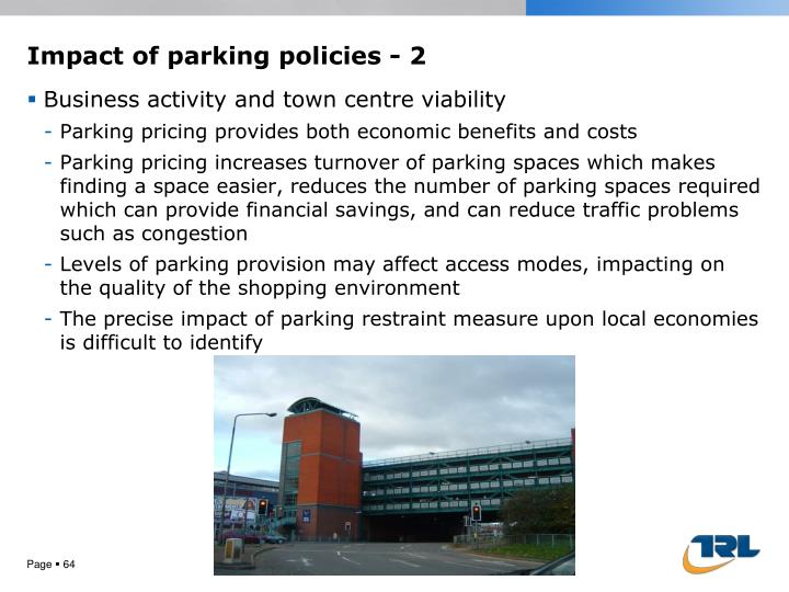 Impact of parking
