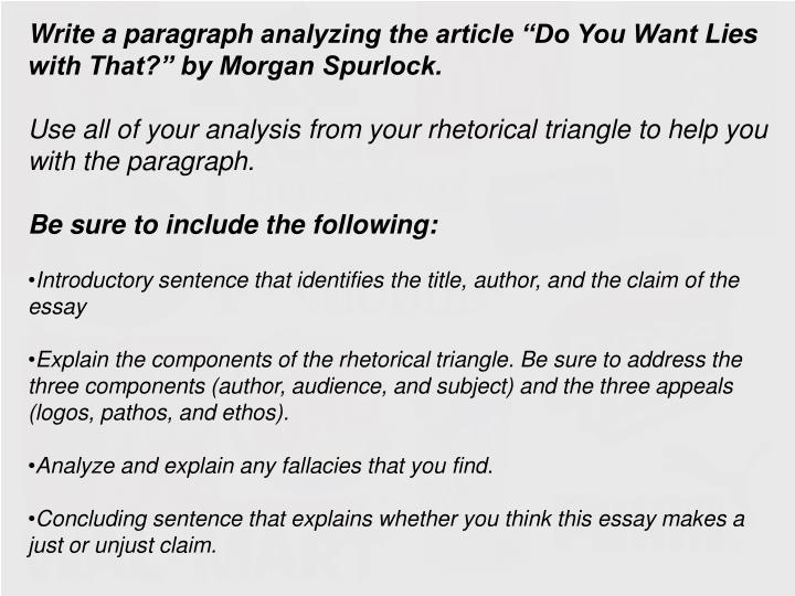 Examples Of Analysis Essays
