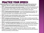 practice your speech