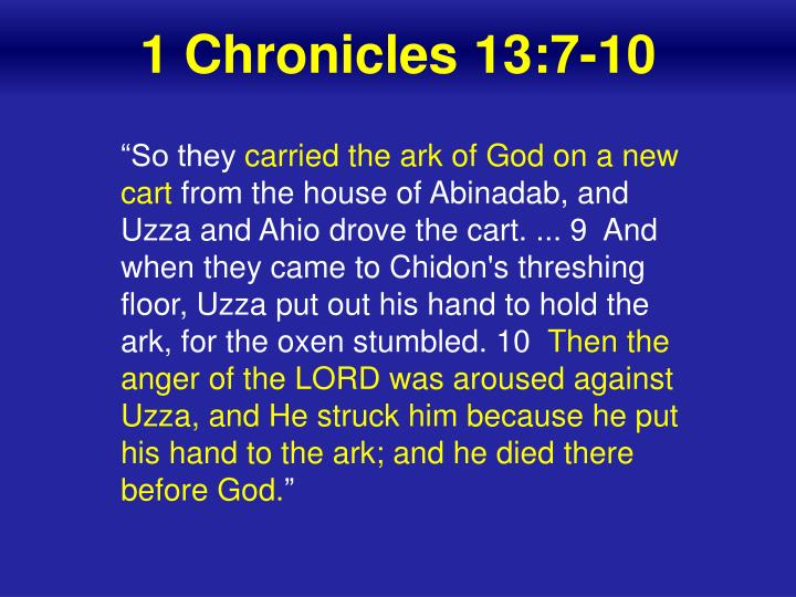 1 Chronicles 13:7-10