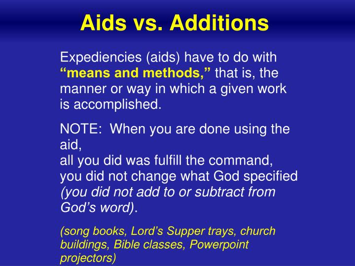 Aids vs. Additions