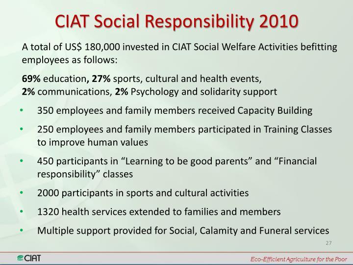 CIAT Social Responsibility 2010