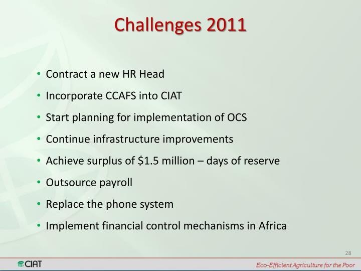 Challenges 2011
