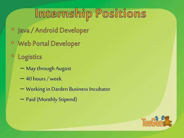 Internship Positions