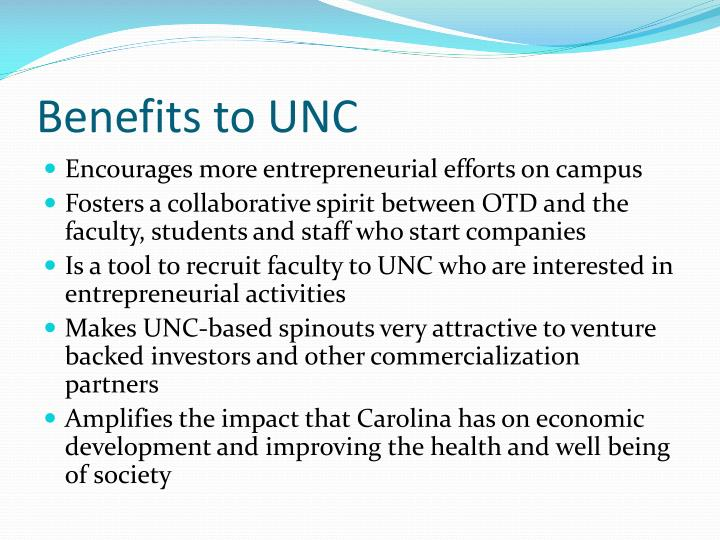 Benefits to UNC