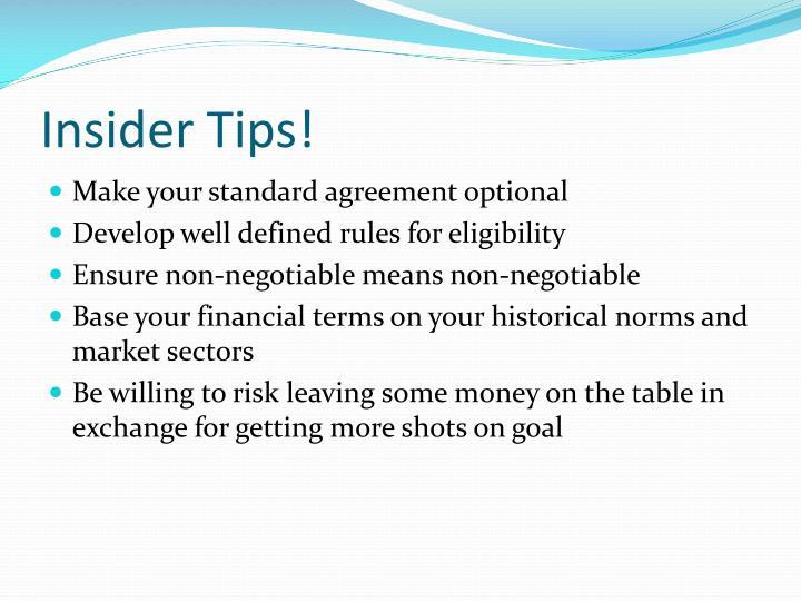 Insider Tips!
