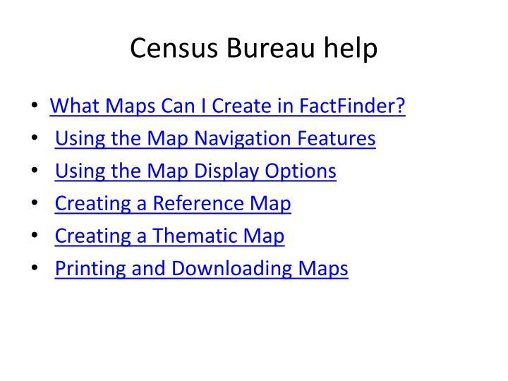 Census Bureau help