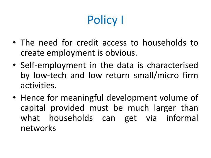 Policy I