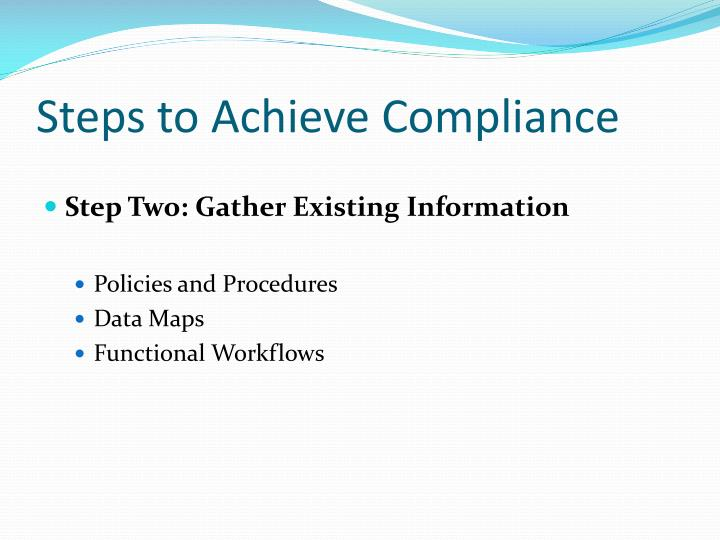 Steps to Achieve Compliance