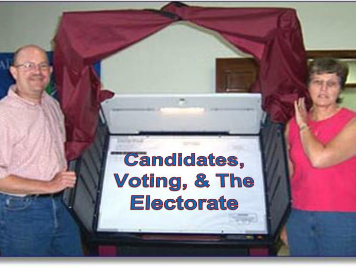 Candidates voting the electorate