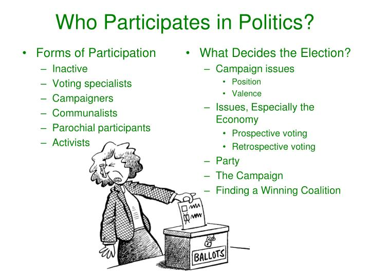 Who Participates in Politics?