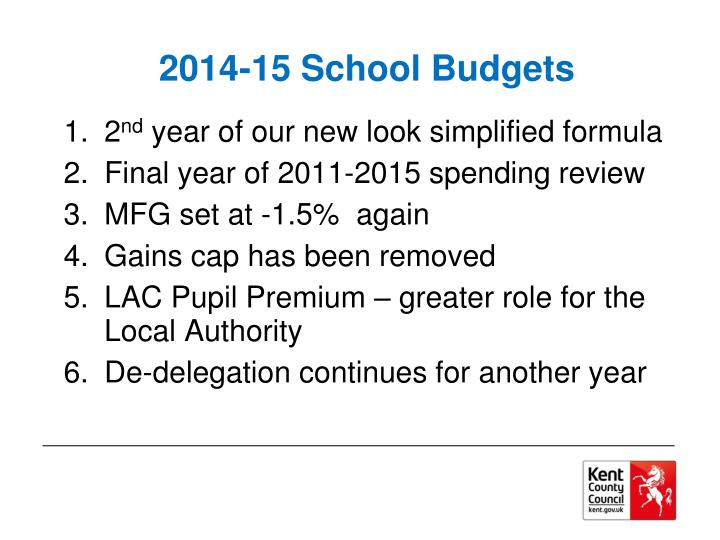 2014-15 School Budgets