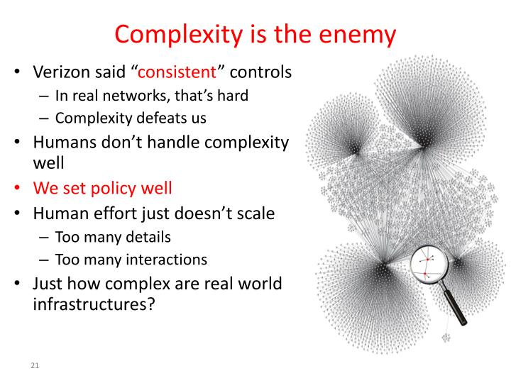 Complexity is the enemy