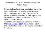 another point of conflict between newton and robert hooke
