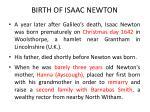 birth of isaac newton
