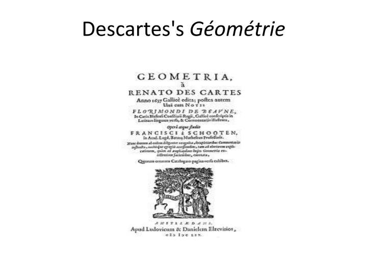 Descartes's