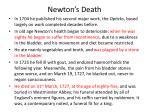 newton s death
