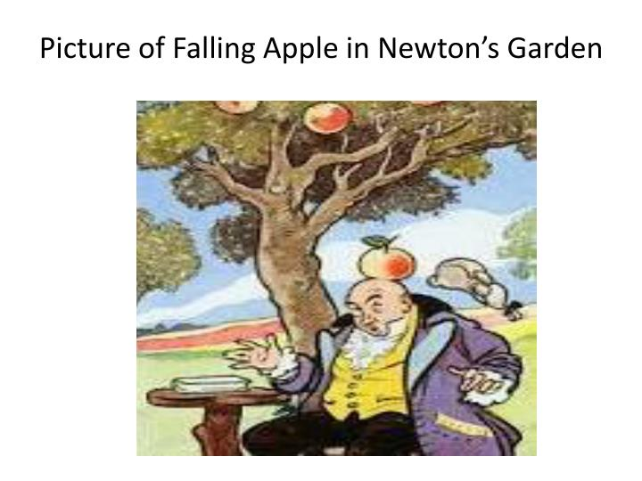 Picture of Falling Apple in Newton's Garden