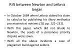 rift between newton and leibniz began