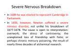 severe nervous breakdown