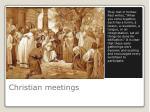christian meetings