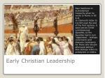 early christian leadership