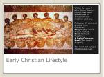 early christian lifestyle
