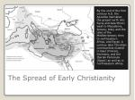 the spread of early christianity