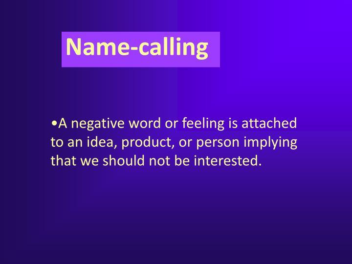 Name-calling