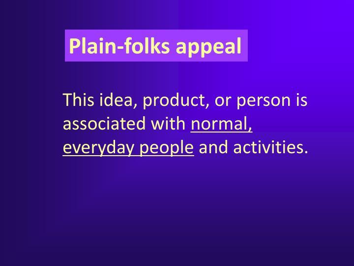 Plain-folks appeal
