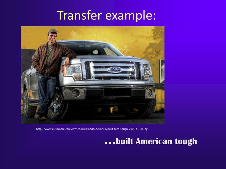 Transfer example: