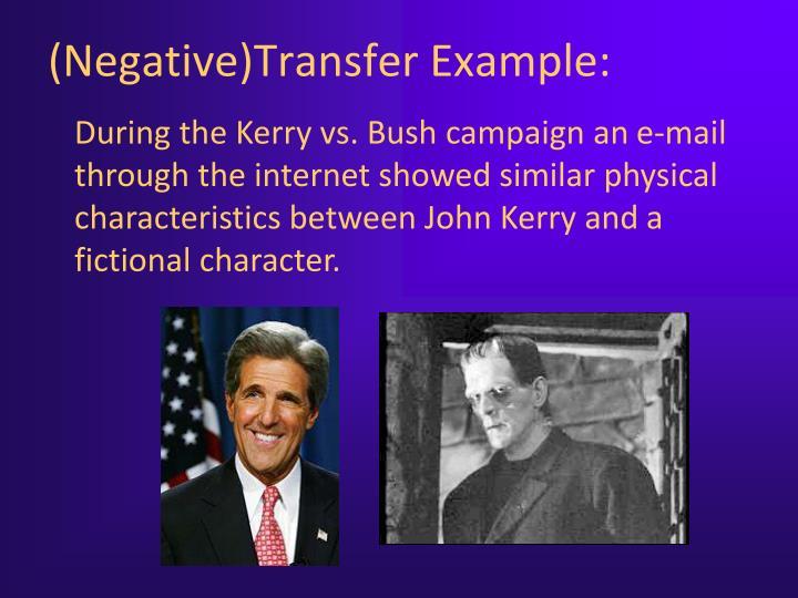 (Negative)Transfer Example:
