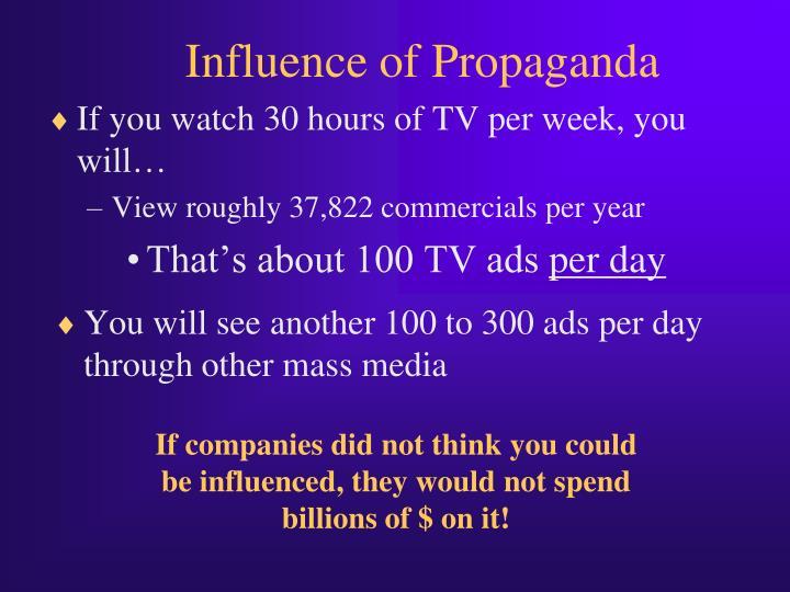 Influence of Propaganda