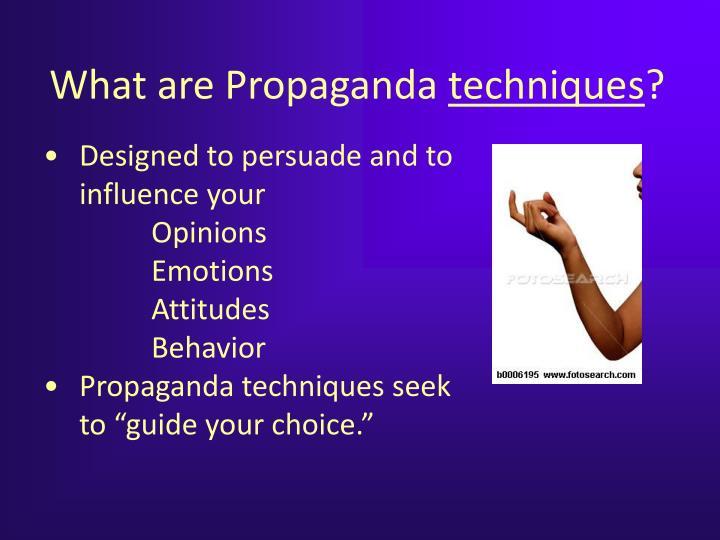 What are Propaganda