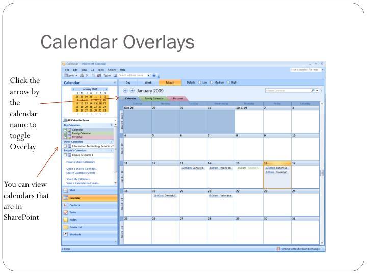 Calendar Overlays