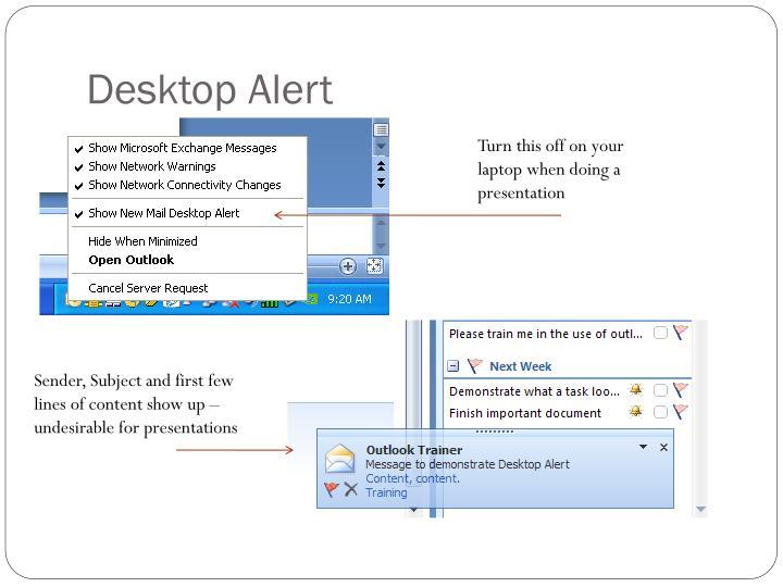 Desktop Alert