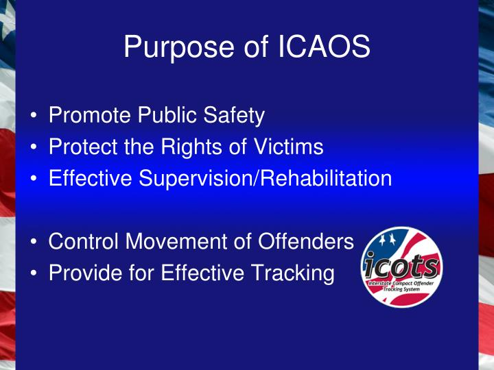 Purpose of ICAOS