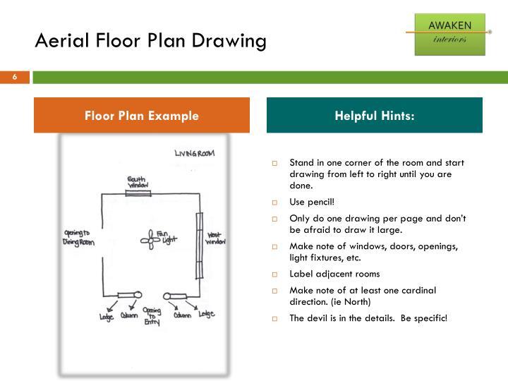 Aerial Floor Plan Drawing